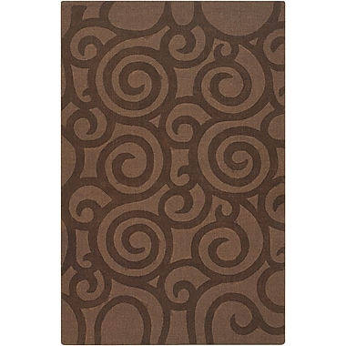 Chandra Jaipur Brown Swirls Area Rug; 5' x 7'