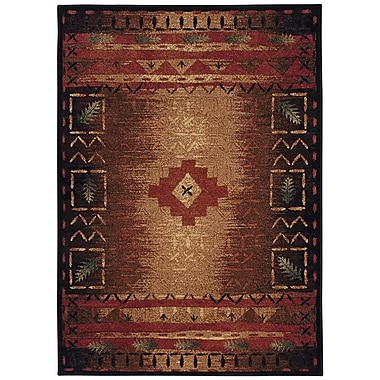 Capel Badin Coffee Multi Indoor/Outdoor Area Rug; 3'11'' x 5'3''