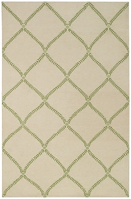 Capel Parable Grass Hand-Knotted Green Area Rug; 5' x 8'