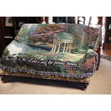 Manual Woodworkers & Weavers The Garden of Prayer Verse Tapestry Cotton Throw