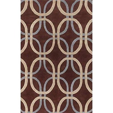Chandra Rowe Brown Area Rug; Round 7'9''