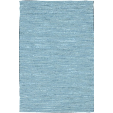 Chandra India Blue Solid Area Rug; Runner 2'6'' x 7'6''