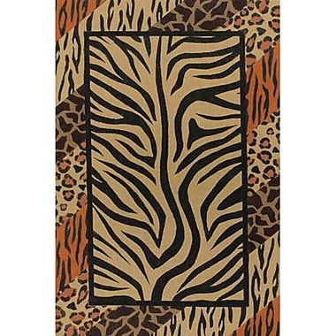 Chandra Safari Brown/Black Area Rug; 7'9'' x 10'6''