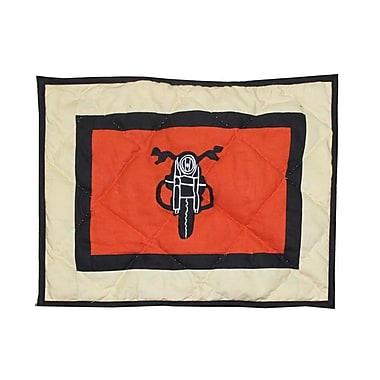 Patch Magic Motor Cycle Crib Cotton Throw Pillow