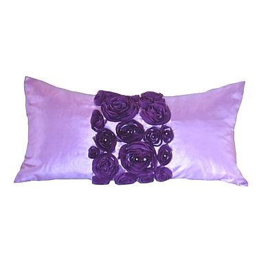Debage Inc. Spring Flower Lumbar Pillow; Purple