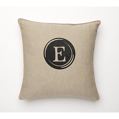 Corona Decor Linen Retro Typewriter Font Linen Throw Pillow; E