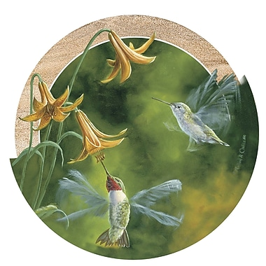 Thirstystone Ruby-Throated Hummingbirds Coaster (Set of 4)