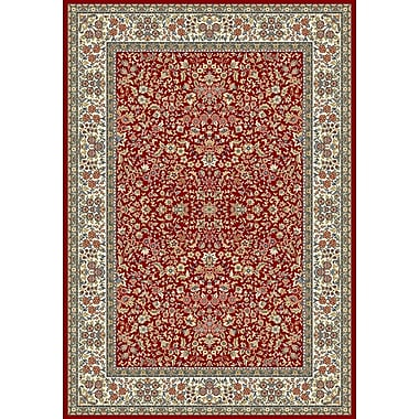 Dynamic Rugs Ancient Garden Red/Ivory Area Rug; 2' x 3'11''