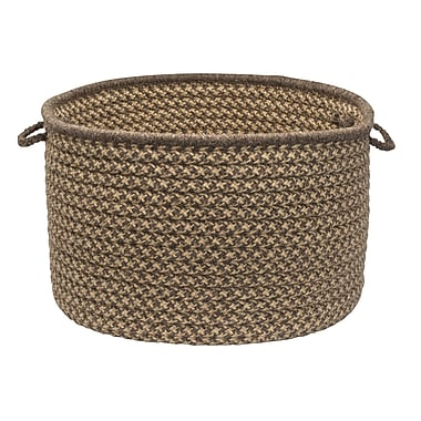 Colonial Mills Natural Wool Houndstooth Storage Basket; Caramel