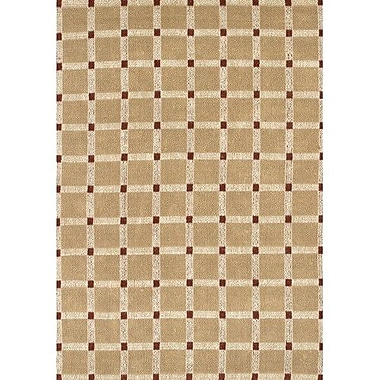 Chandra Art Brown/Red Area Rug; 2' x 3'