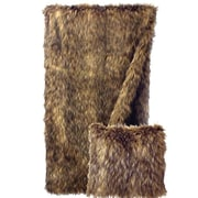 Wooded River Coyote Faux Fur Throw