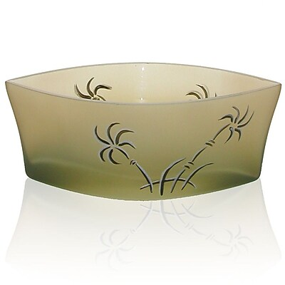 Womar Glass Swaying Palms Decorative Bowl