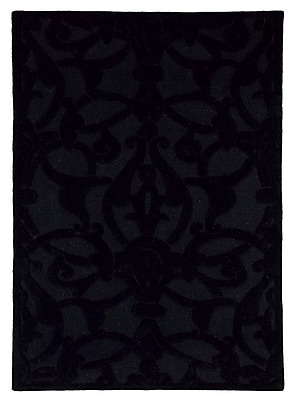 Dynamic Rugs Aria Madison Black Area Rug; Rectangle 8' x 11'