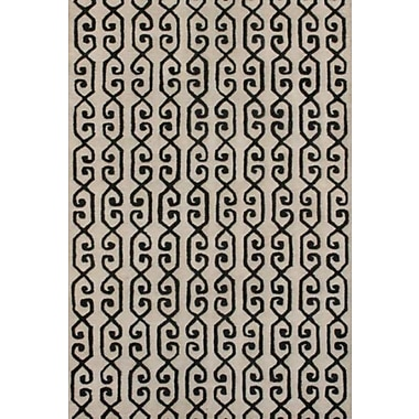 MOTI Rugs Rhythm Ivory Rug; Rectangle 5' x 8'