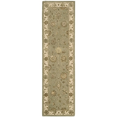 Nourison Nourison 3000 Hand-Tufted Light Green Area Rug; Runner 2'3'' x 8'