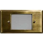 Dabmar Lighting 1-Light Step Light; Antique Brass