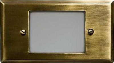 Dabmar Lighting 1-Light Step Light; Antique Brass