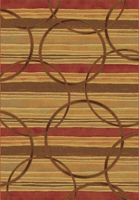 Dynamic Rugs Eclipse Firetown Spice Area Rug; Rectangle 3'11'' x 5'7''