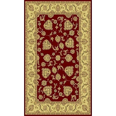 Dynamic Rugs Legacy Cadwell Red Rug; Rectangle 2' x 3'6''