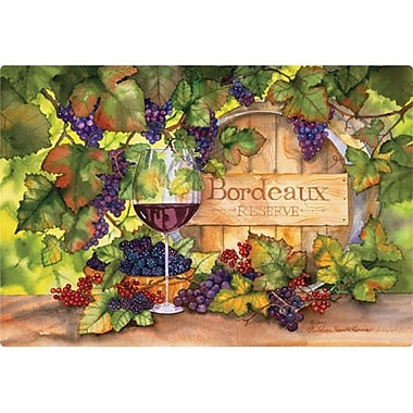 Magic Slice 7.5'' x 11'' Bordeaux Design Cutting Board
