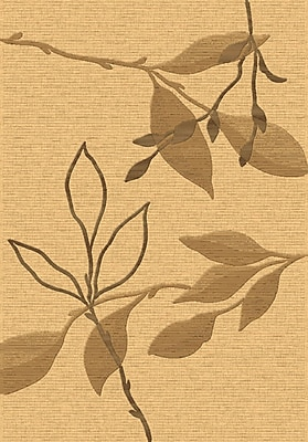 Dynamic Rugs Eclipse Beige/Brown Floral Area Rug; Rectangle 7'10'' x 10'10''