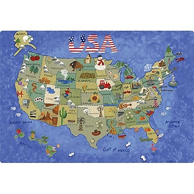 Magic Slice 9.5'' x 12.5'' USA Map Design Cutting Board