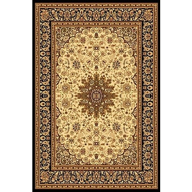 Dynamic Rugs Yazd Cream & Black Area Rug; 7'10'' x 10'10''