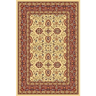 Dynamic Rugs Yazd Cream/Red Area Rug; 2' x 3'6''