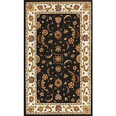 Dynamic Rugs Jewel Charcoal/Beige Rug; 6'7'' x 9'6''