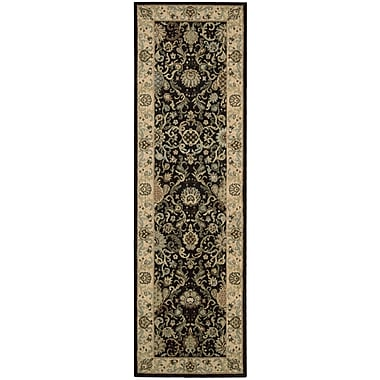 Kathy Ireland Home Gallery Lumiere Stateroom Onyx Area Rug; Runner 2'3'' x 7'9''