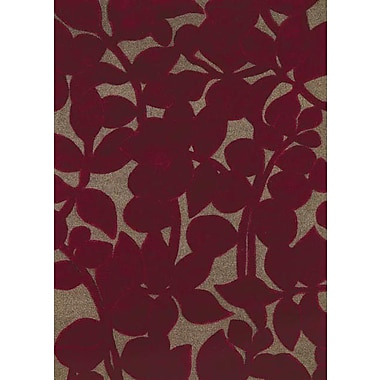 Dynamic Rugs Allure Allurerary Rich Red Area Rug; 5' x 8'