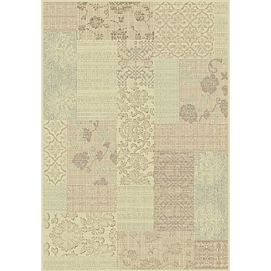 Dynamic Rugs Imperial Cream/Light Brown Area Rug; Rectangle 5'3'' x 7'7''