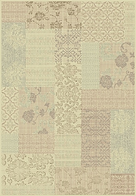 Dynamic Rugs Imperial Cream/Light Brown Area Rug; Rectangle 7'10'' x 11'2''
