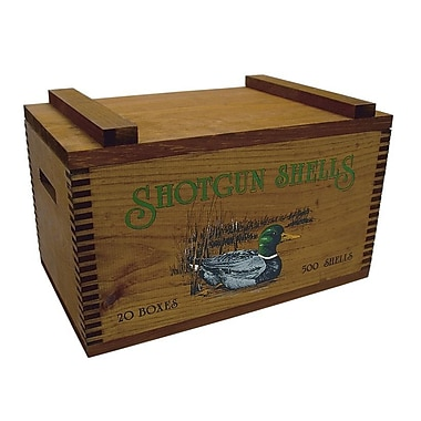Evans Sports Large Storage Box w/ Colored Duck/Shot Shells Print