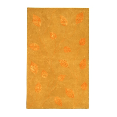 Noble House Florence Gold/Tangerine Area Rug; 8' x 11'