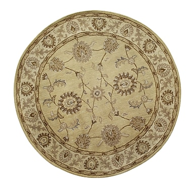 Dynamic Rugs Charisma Champagne Area Rug; Round 5'3''