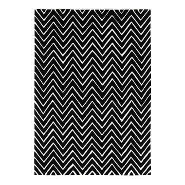 Dynamic Rugs Aria Ivory/Black Area Rug; 8' x 11'