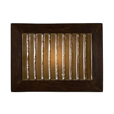 A19 ReFusion Ripple 1-Light Wall Sconce; Butternut and Caramel