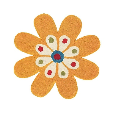Dynamic Rugs Fantasia Yellow Flower Area Rug; Novelty 2' x 2'