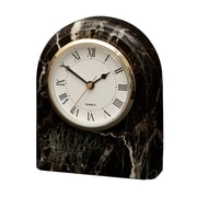 Designs By Marble Crafters Polaris Clock; Black Zebra Marble