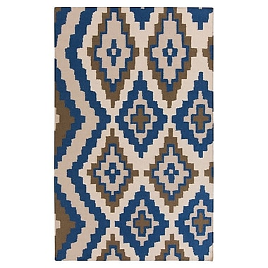 Beth Lacefield Alameda Hand woven Blue/Ivory Area Rug; Rectangle 3'3'' x 5'3''