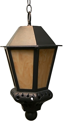 Melissa Tuscany 1-Light Outdoor Hanging Lantern; Black