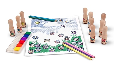 Melissa & Doug® Deluxe Happy Handle Stamp Set