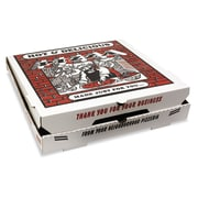 "Pratt Plus B-Flute Corrugated Cardboard Pizza Box, White, 1 7/8""(H) x 18""(W) x 18""(D), 50/Pack"