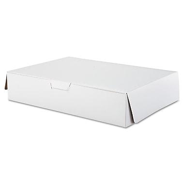 Southern Champion Tray White Paperboard Lock Corner Bakery Box, 4