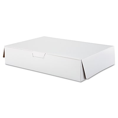 Southern Champion Tray White Paperboard Lock Corner Bakery Box, 4