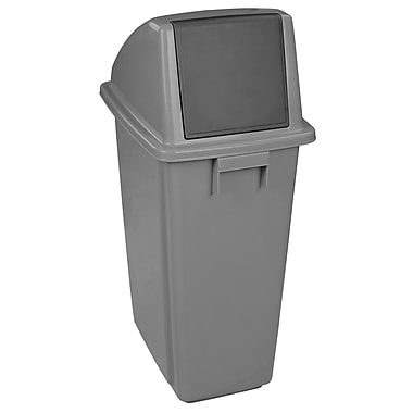 Duraplus Waste Receptacle Containers with Lid, Grey