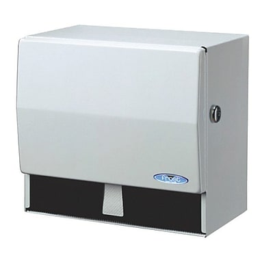 Frost Universal Paper Towel Dispenser with Key, White Epoxy Powder