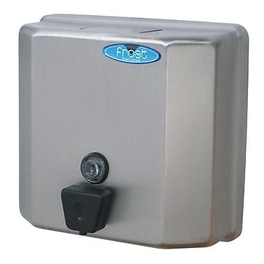 Frost - Distributeur de savon à bouton pressoir, acier inoxydable