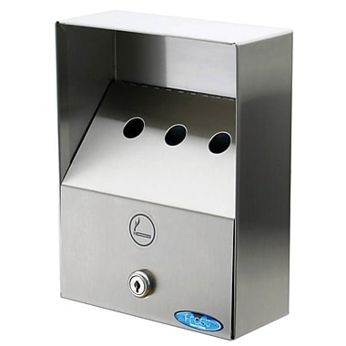 Frost Small Wall Mount Ashtray, Stainless Steel